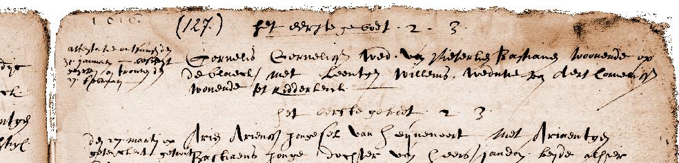 Huwelijk Cornelis Corneliszn en Leentgen Willems te Ridderkerk 27 februari 1616